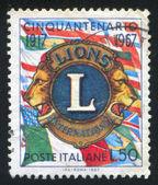 Emblema di leoni — Foto Stock