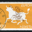 Zeus disguised as bull abducting Europa — Stock Photo #19075959