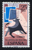 Bull and Symbolic Stamps — Stock Photo