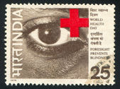 Eye and Red Cross — Stock Photo