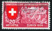 Schweizer familie — Stockfoto