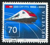 Intercity tilting train — Stock Photo