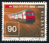 Intercity doubledeck train — Stock Photo