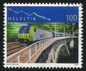 Lotschberg Simplon railway — Stock Photo
