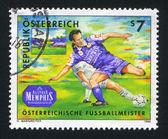 Giocatori di calcio austriaco — Foto Stock