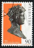 Bacchus'ın bronz büstü — Stok fotoğraf