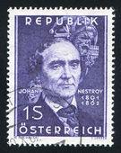 Johann Nestroy — Stock Photo