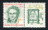 Alois senefelder — Stockfoto