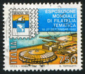 International philatelic exhibition in Genoa — 图库照片