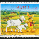 Постер, плакат: Bunny Felix and lambs