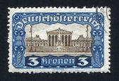 AUSTRIA - CIRCA 1919: stamp printed by Austria, shows Parliamen — Stock Photo