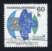 Molniya meteorological satellite — Стоковое фото