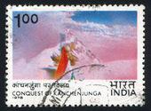 Indian Flag near Summit — Stock Photo
