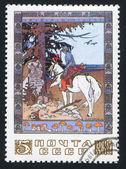 Gioventù sul cavallo bianco di ivan jakovlevič bilibin — Foto Stock