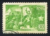 Shura Chekalin Fighting Nazi Soldiers — Stock Photo