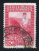 Franz Josef on horseback — Stock Photo
