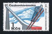Ski jump and slope — Stock Photo