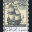 Old Engravings of Ships — Stock Photo
