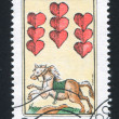 Stock Photo: Playing card 9 of hearts