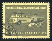 Postal del autocar — Foto de Stock