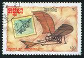 Leonardo da Vinci'nin uçak tasarımları — Stok fotoğraf