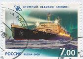 Nukleära icebreaker lenin — Stockfoto