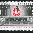 Emblem of Radio Austria and Transistor Radio Panel — Stock Photo