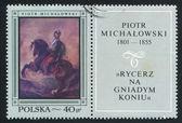 Knight on Bay Horse — Stock Photo