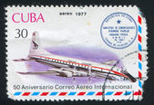 Plane and Havana Prague cashet — Stock Photo