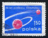 Tierra y sputnik — Foto de Stock