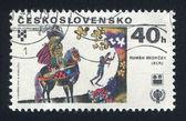 Knight on horseback bay Rumen Skorchev — Stock Photo