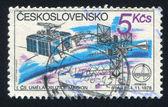 чешский спутниковая станция — Стоковое фото