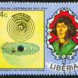 Nicolaus Copernicus and Eudoxus solar system — Stock Photo