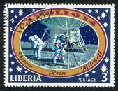 宇航员在月球上 — 图库照片