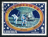 астронавтов на луне — Стоковое фото