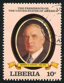 President of the United States Warren G. Harding — Stock Photo
