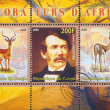 Stock Photo: David Livingstone and impala