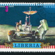 Stock Photo: Astronaut and Lunar rover