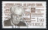 Torgny Segerstedt and Page of Gothenburg Journal — ストック写真
