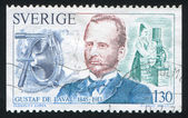 Gustaf de Laval and milk separator — Stock Photo