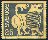 Stamp Lion — Stock Photo
