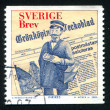 Stock Photo: Newspaper and fictitious Postmaster of Gronkoping