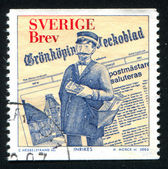Newspaper and fictitious Postmaster of Gronkoping — Stock Photo
