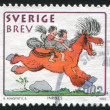 Boy and girl on horse by Bertil Almqvist — Stock Photo #38686525