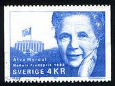 Alva Myrdal — Stock Photo