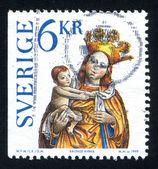 Madonna ve çocuk simge balinge Kilisesi — Stok fotoğraf