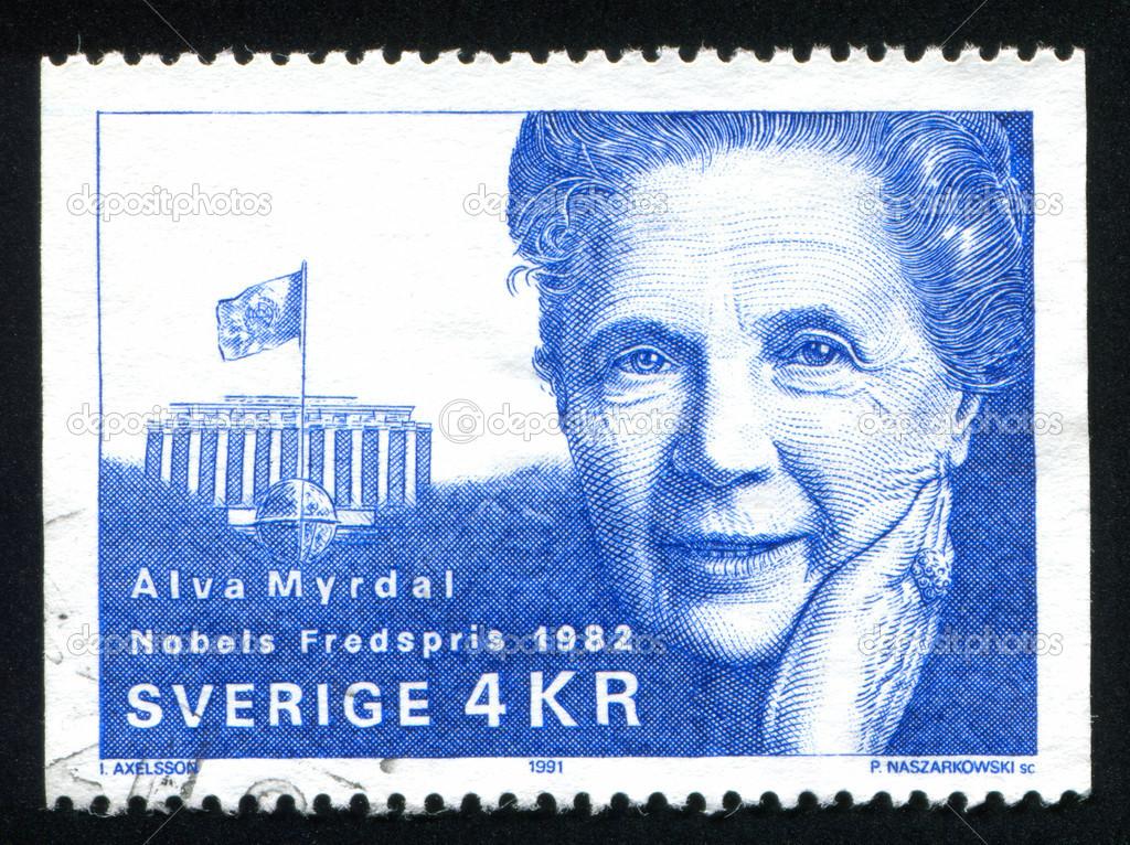 a biography of alva myrdal a swedish sociologist and politician