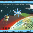 Foto Stock: US and USSR telecommunication satellites