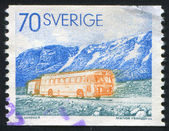 Postal autobus — Stockfoto