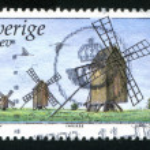 Windmills in Oland Moorland — Stock Photo #39605703